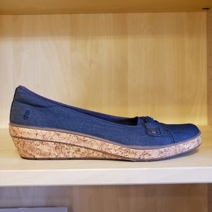 ♥️3 for $30♥Grasshoppers blue and cork wedge shoes